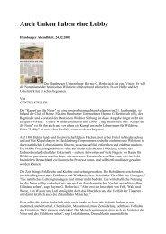 Das Hamburger Abendblatt über die Kampagne der Deutschen