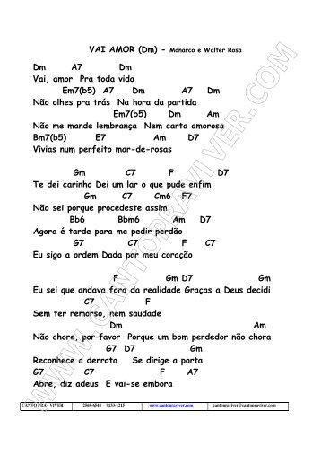 VAI AMOR - Canto pra Viver