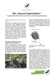 """Die """"Janosch-Spatzenkiste"""" - Deutsche Wildtier Stiftung"""