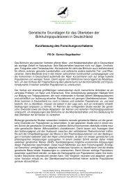 Informationen zum Projekt von Dr. Gernot Segelbacher als pdf