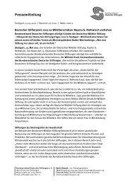Pressemitteilung des Bundesverbandes Deutscher Stiftungen