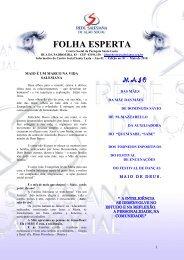 FOLHA ESPERTA - Centro social da Paróquia Santa Luzia
