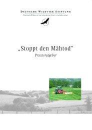 """Praxisratgeber """"Stoppt den Mähtod!"""" - Deutsche Wildtier Stiftung"""
