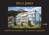 Prospekt-Unterlagen Villa Lario - bei Menghini Immobilien Davos