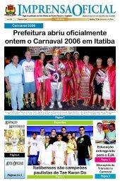 Prefeitura abriu oficialmente ontem o Carnaval 2006 em Itatiba