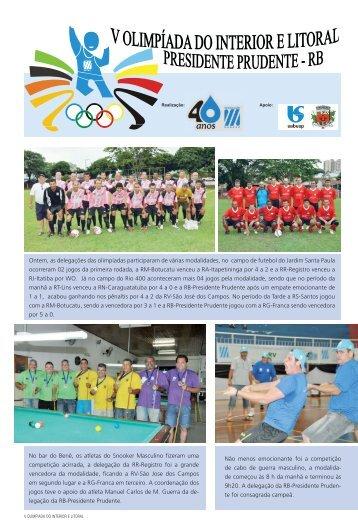 Ontem, as delegações das olimpíadas participaram de várias ...