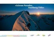 Zusammenschluss der vier Bergbahngesellschaften im ... - Titlis