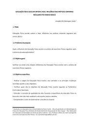 EDUCAÇÃO FÍSICA ESCOLAR ONTEM E HOJE ... - Educasul