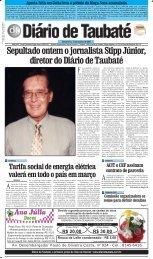 Sepultado ontem o jornalista Stipp Júnior, diretor do Diário de Taubaté