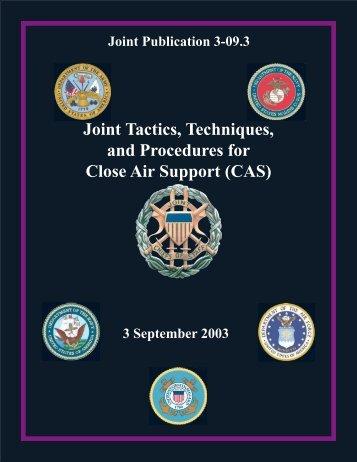 Joint Tactics, Techniques, and Procedures for Close Air ... - BITS