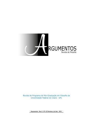 Revista Argumentos 6_WEB_interativa.pdf - Curso de Filosofia - UFC