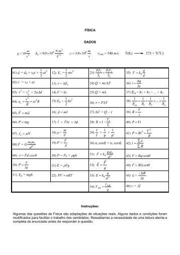 Prova comentada - Vestibular 2005 UFSC