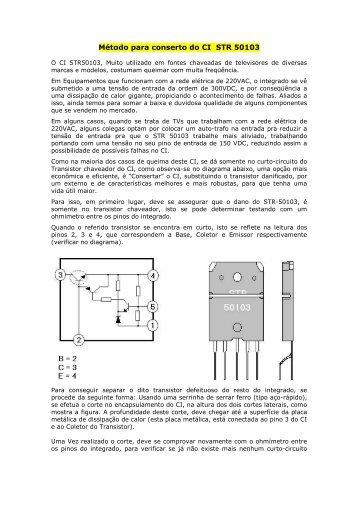Recuperando STR 50103 - Burgoseletronica