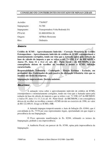 Microsoft Word - 776995\252.doc - Secretaria de Estado de ...