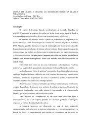 ESCOLA EM CICLOS: O DESAFIO DA ... - ANPEd
