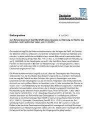 (RefE) eines Gesetzes - beim Deutschen Familiengerichtstag eV