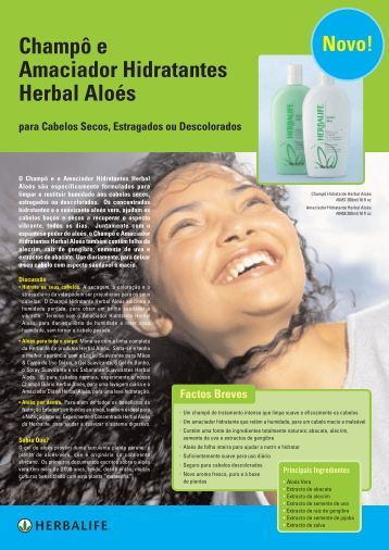 Champô e Amaciador Hidratantes Herbal Aloés para Cabelos ...