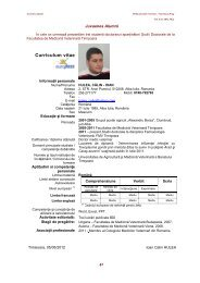 Curriculum vitae - Veterinary Pharmacon