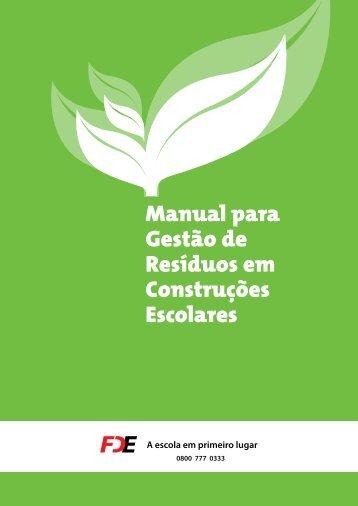 Manual para Gestão Ambiental dos Resíduos em Construções ...