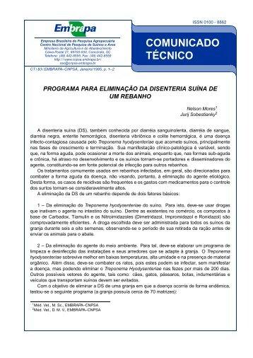 COMUNICADO TÉCNICO - Ainfo - Embrapa