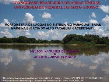 Morfometria de lagoas no sistema Rio Paraguai - 1° Congresso ...