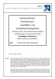 Finanzierung-/ Liquiditäts- und Investitionsmanagement - Deutsche ...