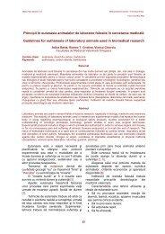 Principii în eutanasia animalelor de laborator folosite în cercetarea ...