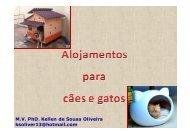 Alojamentos para cães e gatos - Escola de Veterinária e Zootecnia ...