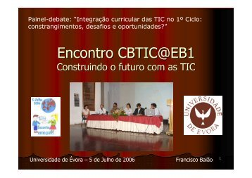 Francisco Baião – Colaborador do Programa CBTIC@EB1