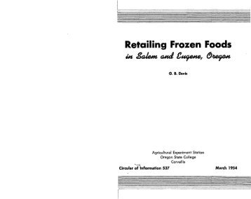 Retailing frozen foods in Salem and Eugene, Oregon