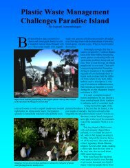 Plastic Waste Management Challenges Paradise Island - Top to Top
