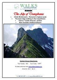The Alps of Transylvania 2012 - Walks Worldwide