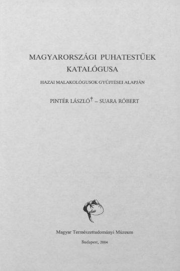 magyarországi puhatestűek - Magyar Természettudományi Múzeum