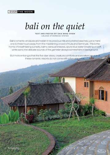 bali on the quiet