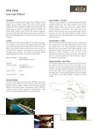 Alila Ubud - Alila Hotels and Resorts