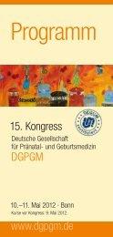 Programm - Deutsche Gesellschaft für Pränatal