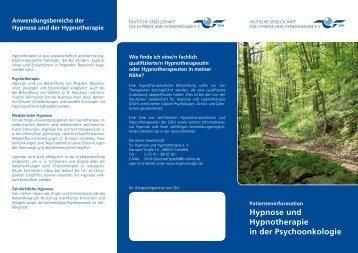 Hypnose und Hypnotherapie in der Psychoonkologie - Deutsche ...