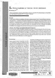 La filariose lymphatique au Cameroun : état des connaissances - IRD