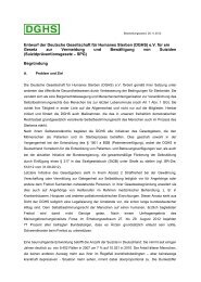 Entwurf der Deutsche Gesellschaft  für Humanes Sterben (DGHS) eV ...