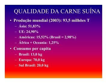 QUALIDADE DA CARNE SUÍNA - Campos e Carrer