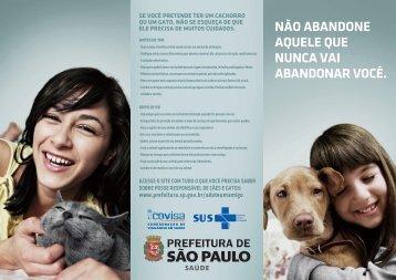 folheto - Prefeitura de São Paulo