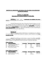 EDITAL N.º 004/2.006. Integrante do Concurso Público N.º 001 ...