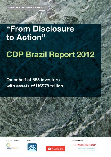 CDP Brazil Report 2012 - Carbon Disclosure Project