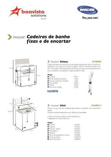 Cadeiras de banho fixas e de encartar - Boavista Solutions