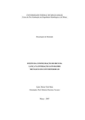 v - Biblioteca Digital de Teses e Dissertações da UFMG