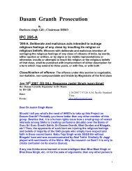Dasam Granth Prosecution & IPC 295A - Darbara Singh