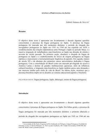 língua portuguesa no Japão - fflch - USP