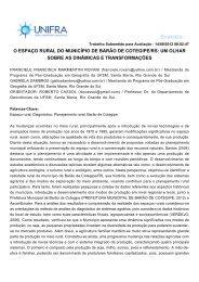 o espaço rural do município de barão de cotegipe/rs: um ... - Unifra