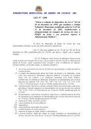 Lei 1.285 ISS - Código Tributário - Prefeitura Municipal de Barão de ...