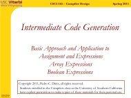 Spring 2011 CSCI 565 - Compiler Design